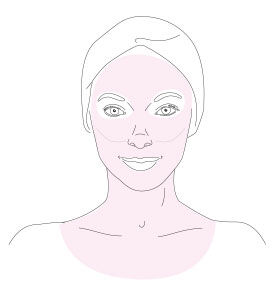 diamond white glowing mask - step 1 - Getting the best of it